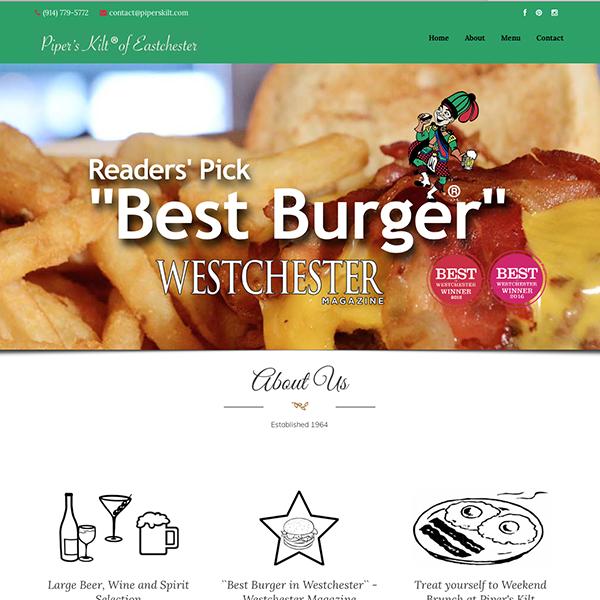 Piper's Kilt Website Screen grab